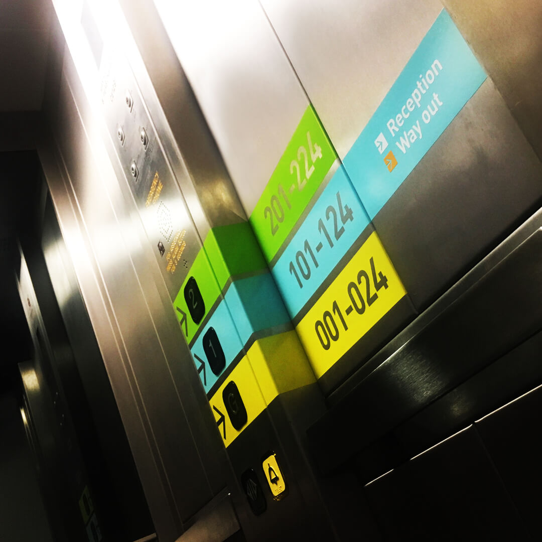 vinyl directional lift signage